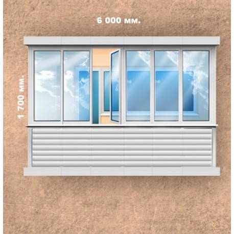 Остеклить 6 метровый балкон в химках.